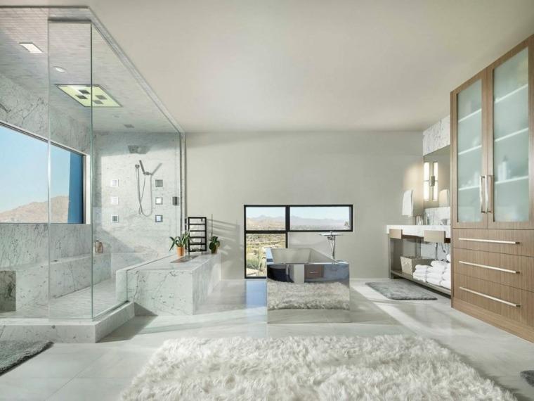 bano lujoso amplio diseno moderno luster custom homes ideas