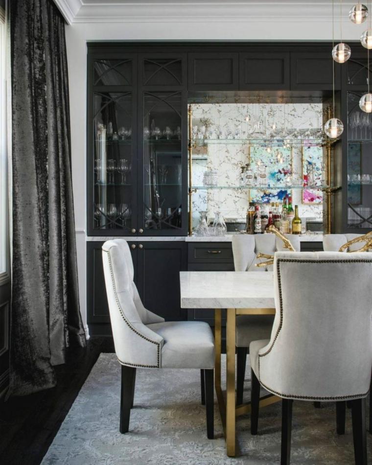 bar empotrado cortinas concepto vinos