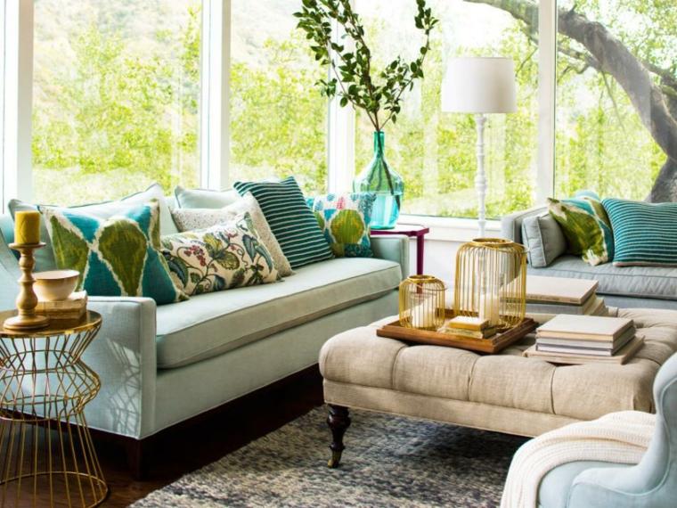 bellos detalles azul accesorios salas