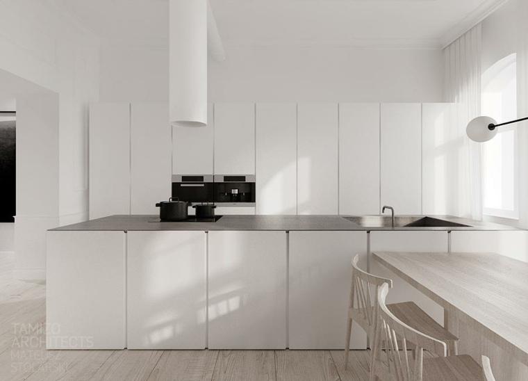 blanca gris tamizo architects moderna madera