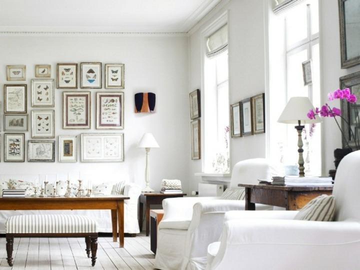 blanco contrastes flores accesorios mesas