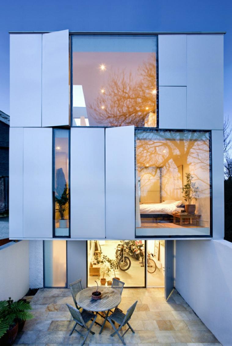 blanco vistas exteriores casas puertas