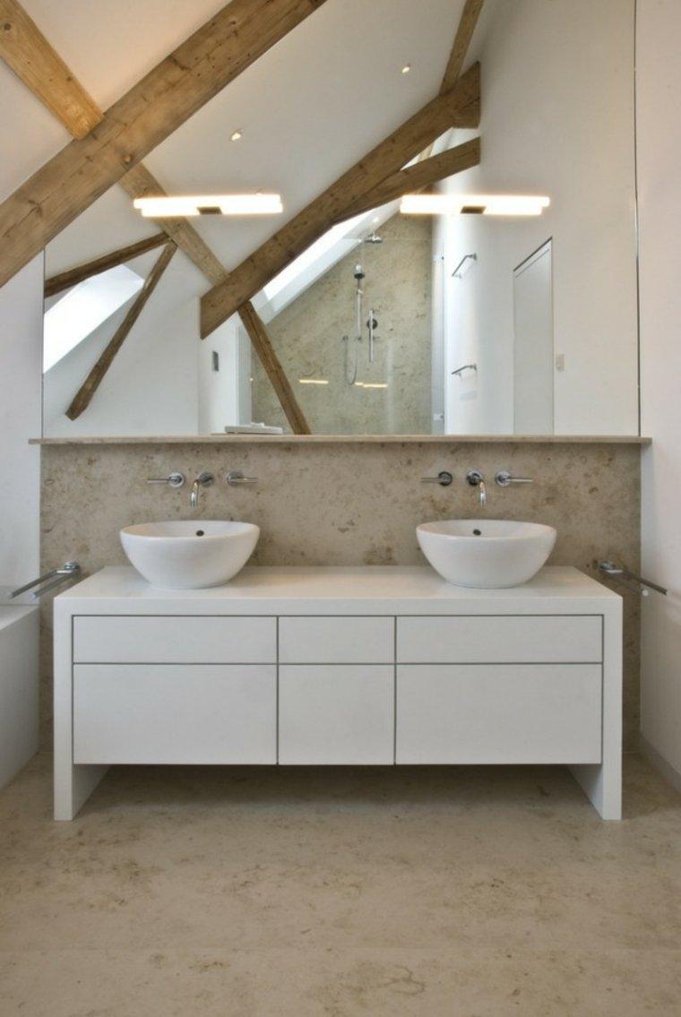 bonito mueble lavabo blanco