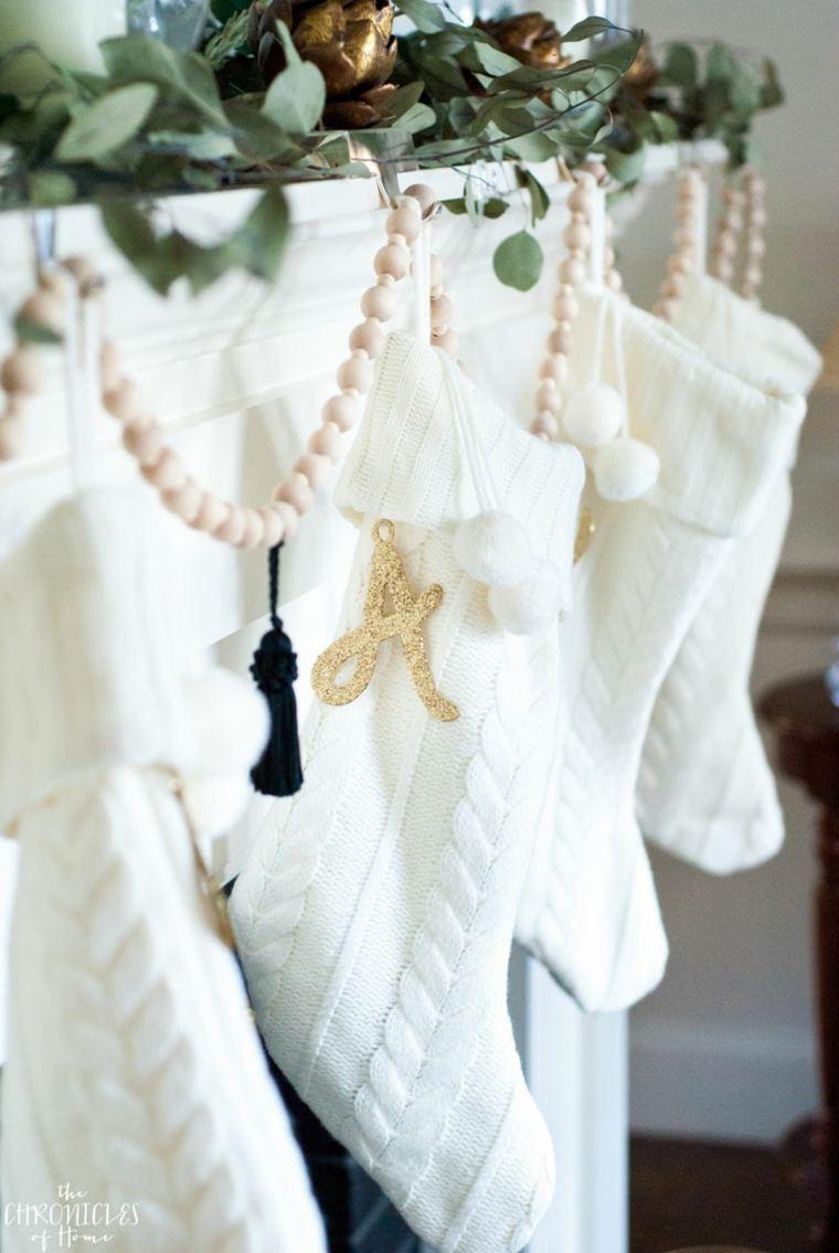bonita decoración medias navidad