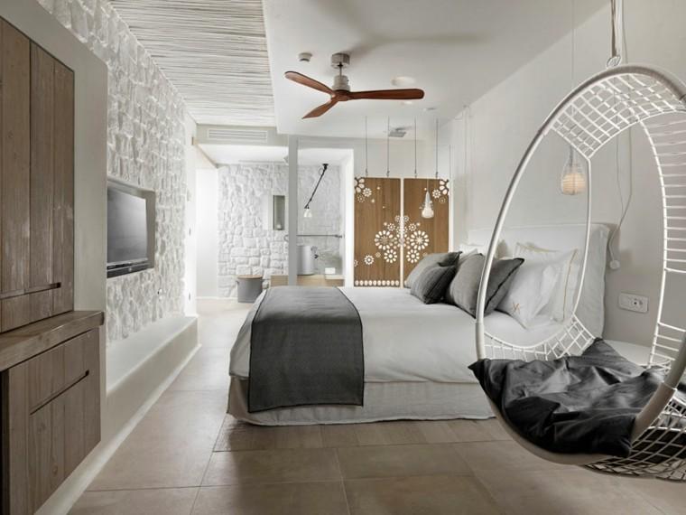 bonita habitación pared piedra