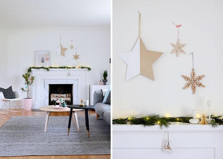 bonitas estrellas navideñas caseras