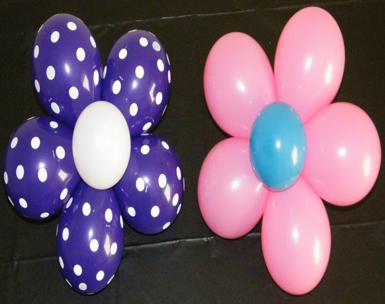 bonitas flores hechas con globos