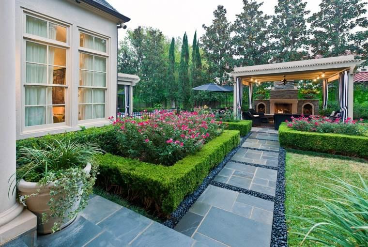 bonito diseño jardin elegante