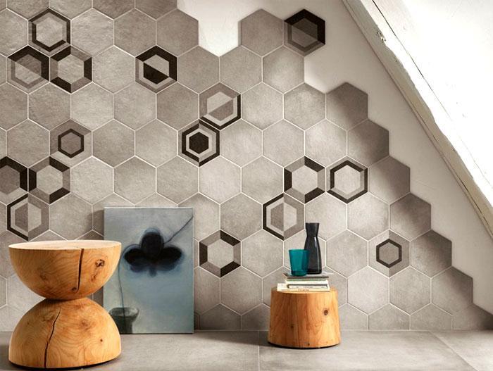 bonito diseño pared baño
