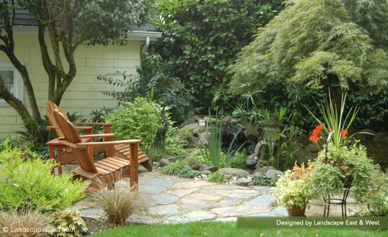 bonito diseño paisaje jardin