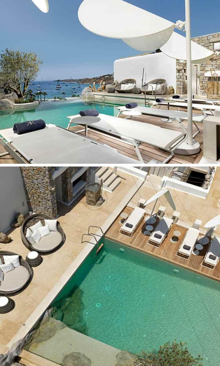 bonito diseño jardín piscina