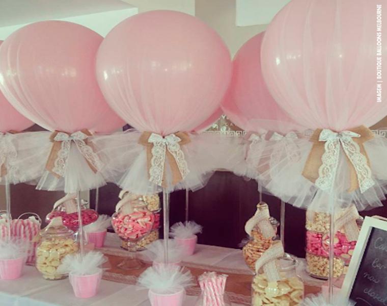 bonitos globos color rosa chicle