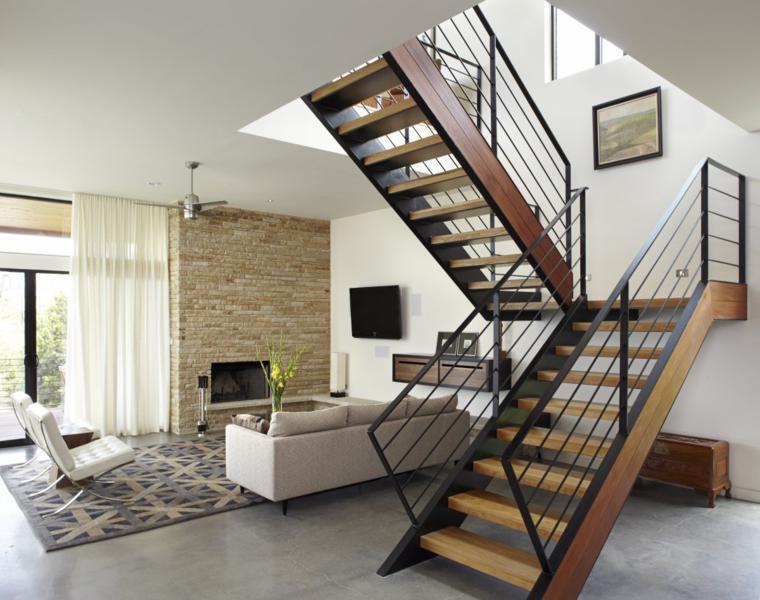 bonito interior escalera moderna