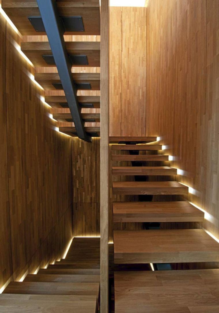 bordes iluminados madera estantes estructuras