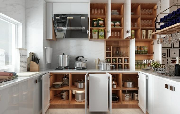 cabinetes organizacion cocina blanca orden
