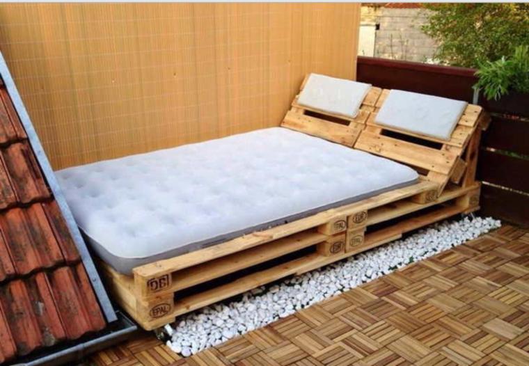 cama de madera palet