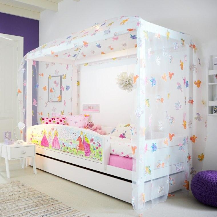 Decoraci n de habitaci n para ni os que empiece la - Dosel cama nina ...