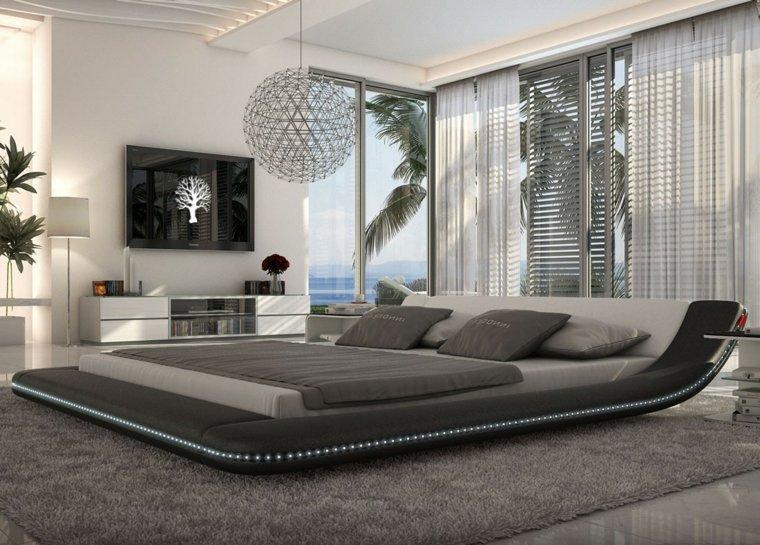 cama estilo japonés dormitorio