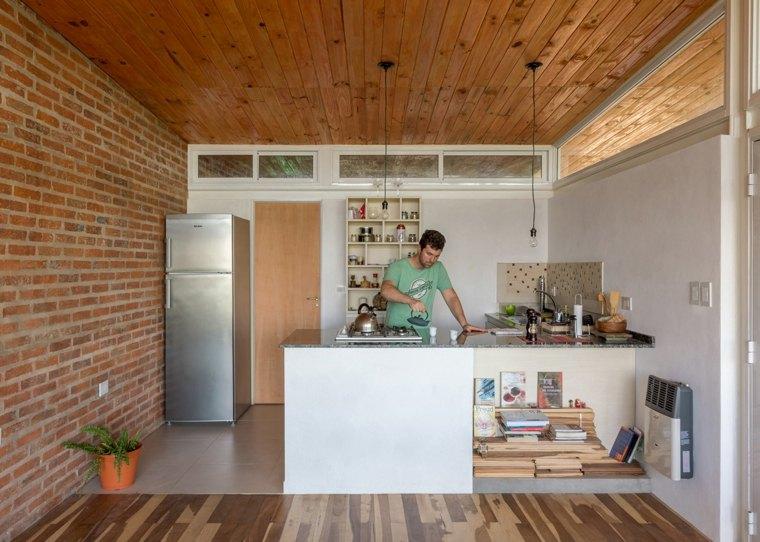 casa celula urbana argentina cocina diseno ideas