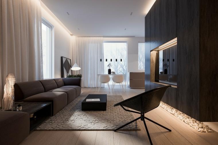 Casa minimalista con espacios brillantes y funcionales for Interior casa minimalista