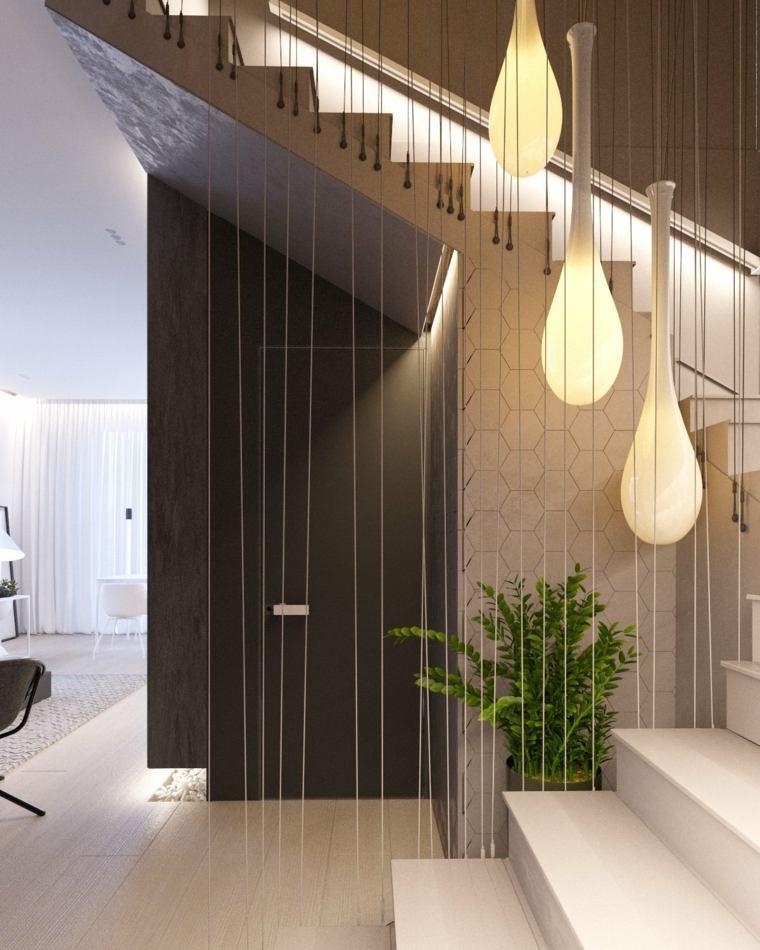 casa minimalista luminarias asombrosas plantas