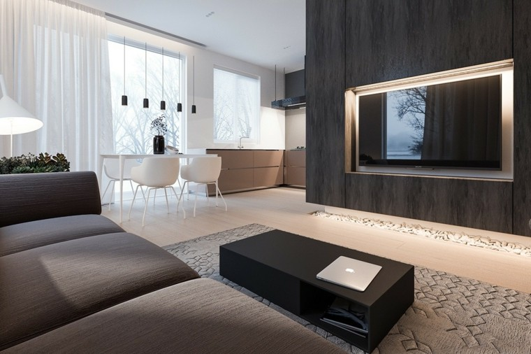 casa minimalista sofa comodo diseños