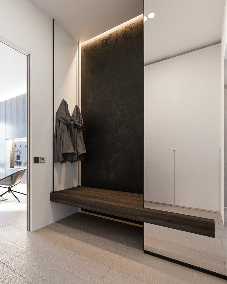 casa minimalista suelos madera muestras