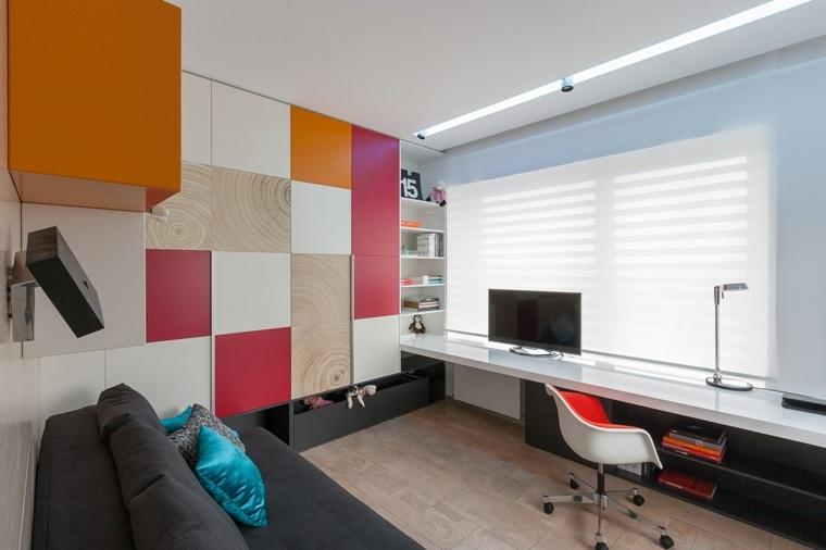 casa moderna decorada colores
