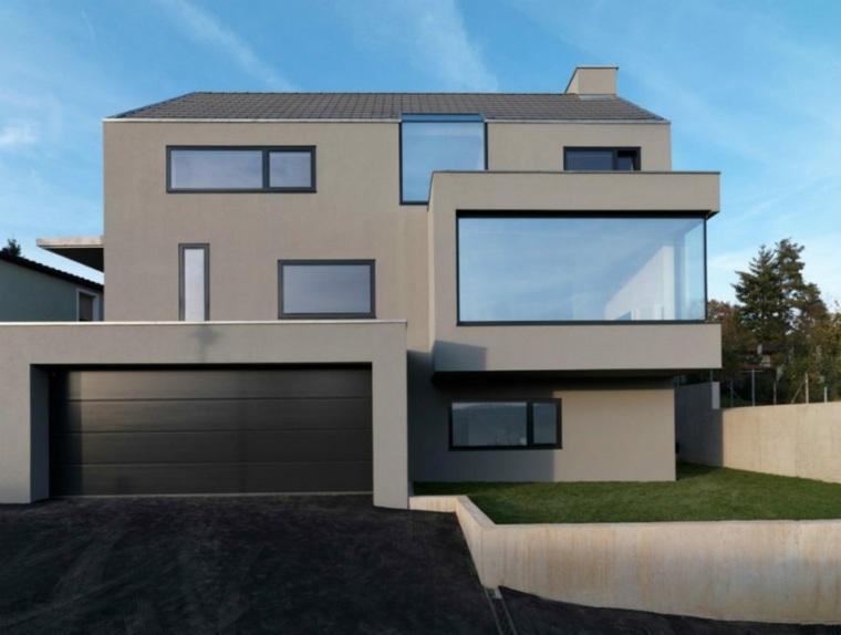 casa moderna estaciones jardines minimalistas