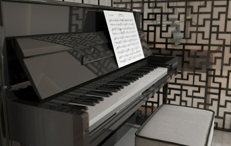casa zen negro sistemas sillas piano