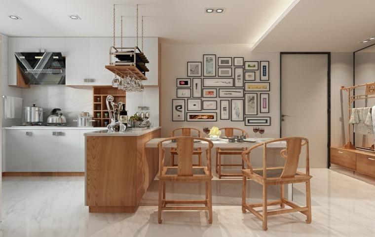 casa zen separador sillas madra paredes