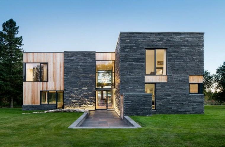 casas estilo contemporáneo jardin trasero opciones ideas