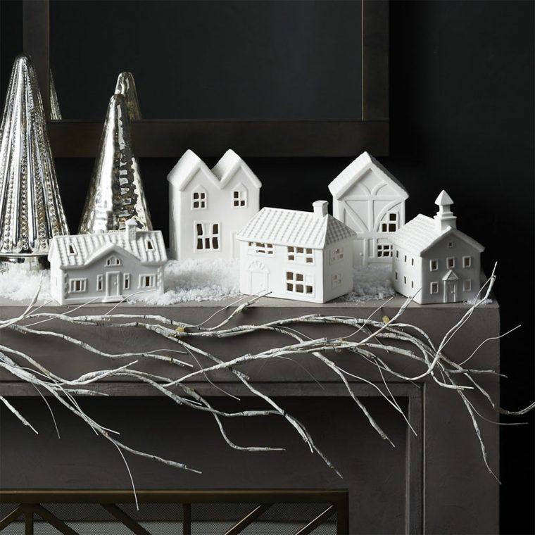 pueblo casitas escayola decoradas ramitas