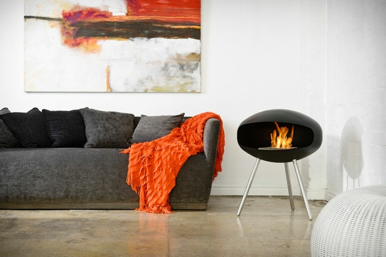 chimeneas decorativas diseno cocoon fires ideas