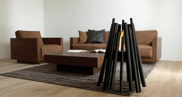 chimeneas decorativas diseno ecosmart fire interior ideas