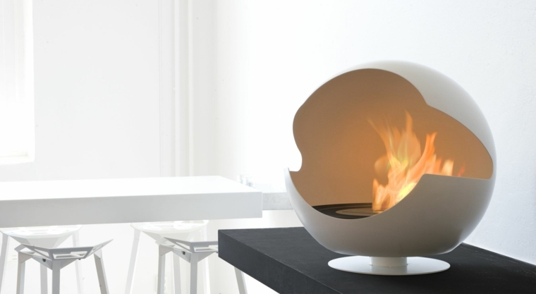 chimeneas decorativas diseno blanco vauni ideas