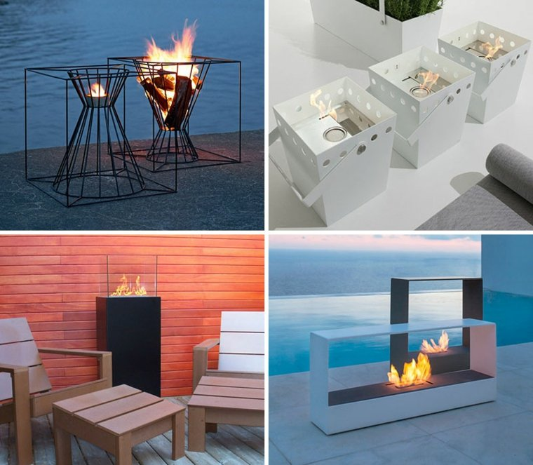 chimeneas decorativas diseno original ideas