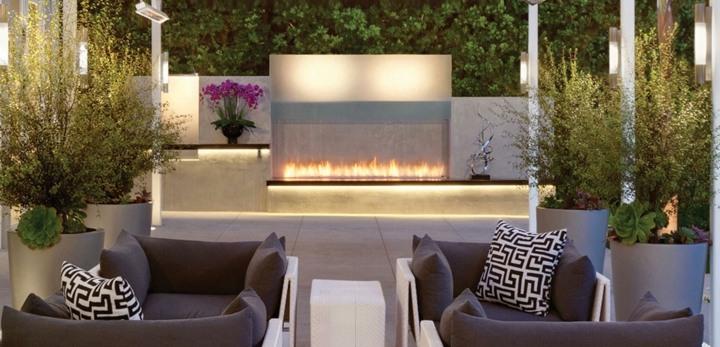 chimeneas diseño contemporanea agradable plantas