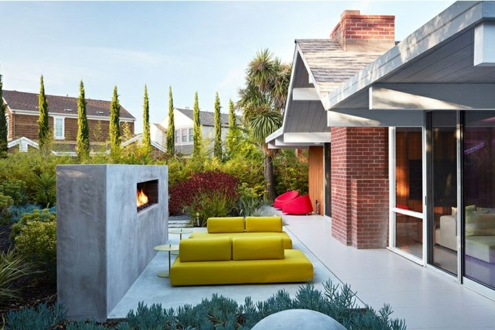 chimeneas diseño ladrilos predes ideas muebles