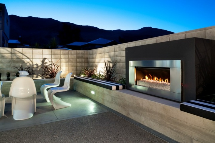 chimeneas diseño metalicos bordes estilos plantas