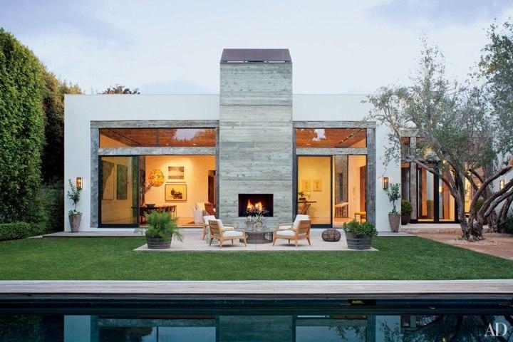chimeneas diseño piscina salones concreto