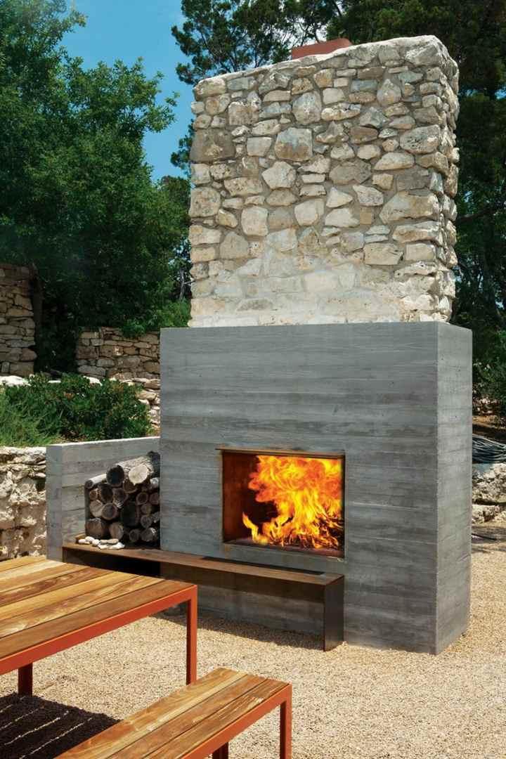chimeneas diseno rustica materiales tradicionales