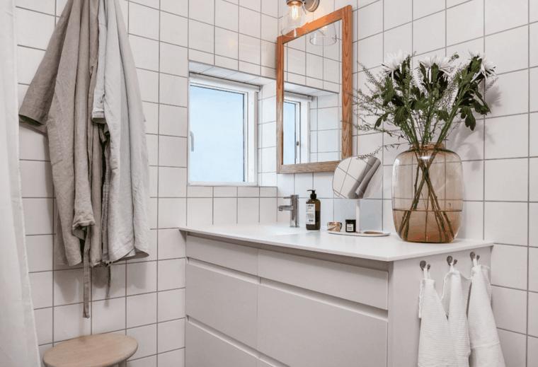 cuarto baño estilo nordico