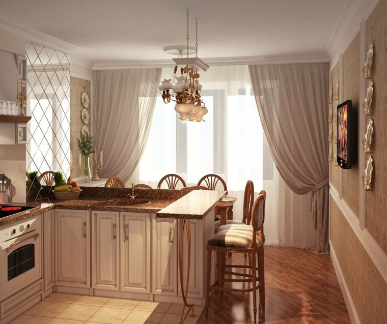 Cortinas de cocina y estores para enriquecer el dise o for Estores de cocina modernos