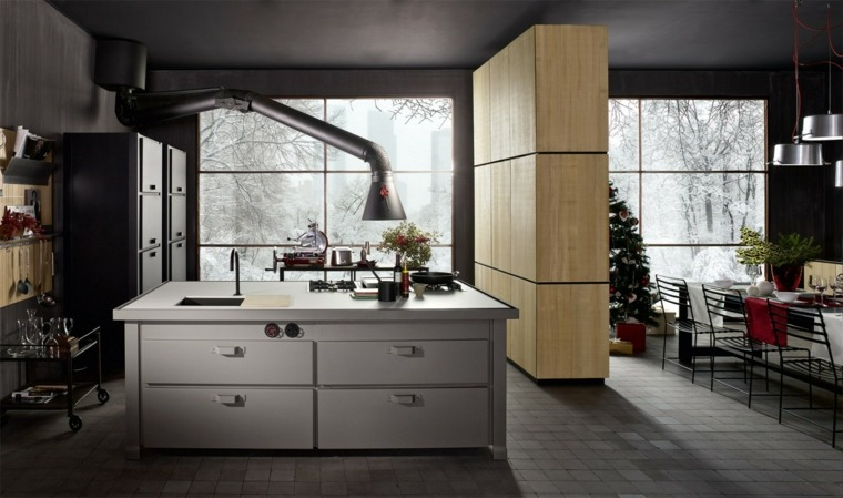 cocinas forma diseno cocina lujosa blanco ideas