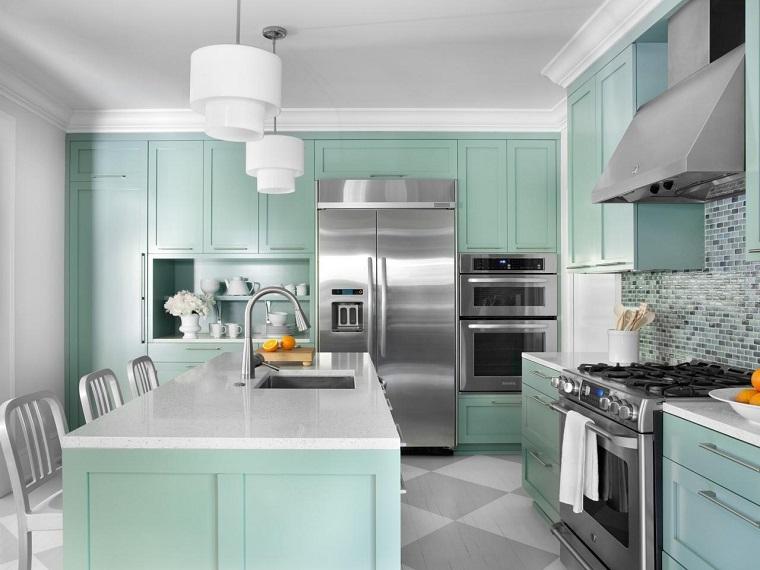 cocinas forma diseno colores opciones claros cocina ideas