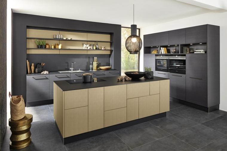 cocina forma diseno detalles madera cocina ideas
