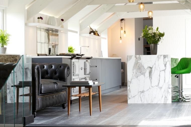 cocina forma diseno opciones marmol cocina isla ideas