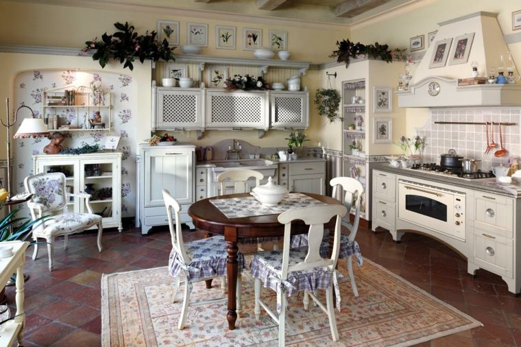 cocina muebles blancos diseno provenzal