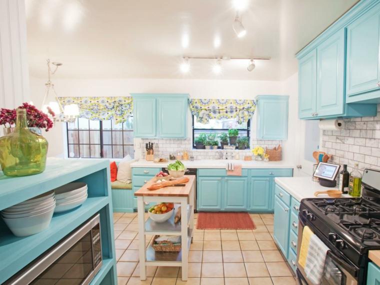 Dise os de salpicaderos de cocina modernos 34 ideas - Cocinas estilo shabby chic ...